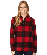 Fjall Raven Canada Shirt Red Women's Long Sleeve Button Up