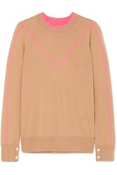 Adam By Adam Lippes Intarsia Merino Wool Sweater Beige