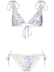 Zimmermann Bluebird Printed Triangle Bikini