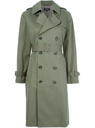 A.P.C. Double Breasted Coat Green