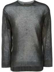 Avant Toi Fine Knit Sweater Black