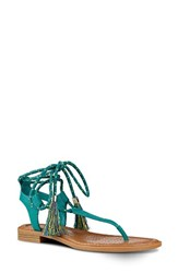 Nine West Women's Gannon Sandal Dark Turquoise Fabric