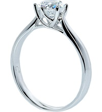 Carat Rosy Round 2Ct Solitaire Ring White