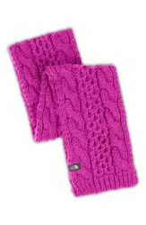 The North Face Women's 'Minna' Cable Knit Scarf Pink Luminous Pink