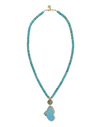 Devon Leigh Jasper And Turquoise Pendant Necklace