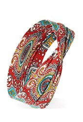 Forever 21 Knotted Paisley Headwrap Rust Multi