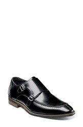 Stacy Adams 'S Baldwin Double Monk Strap Slip On Black Leather