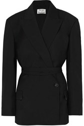 Acne Studios Jess Wool And Mohair Blend Blazer Black