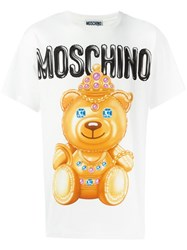 Moschino Bear Print T Shirt White