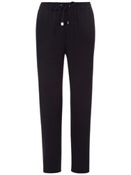 Jaeger Crepe Drawstring Trousers Navy