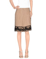 P.A.R.O.S.H. Skirts Knee Length Skirts Women Sand