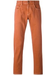 Loro Piana Slim Fit Trousers Yellow Orange