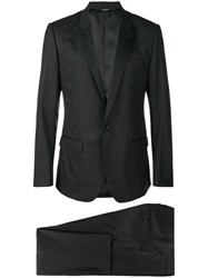 Dolce And Gabbana Two Piece Formal Suit Black