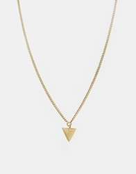 Made Katumo Short Triangle Pendant Necklace Gold