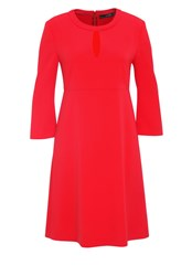 Hallhuber Dress With Slit Opening Red
