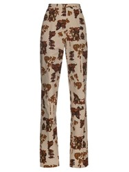 Bottega Veneta Broken Print Trousers Grey Print