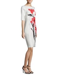 Rickie Freeman For Teri Jon Floral Printed Sheath Dress