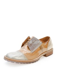 Maison Martin Margiela Transparent Deconstructed Leather Oxford Beige Men's