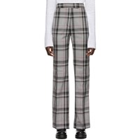 3.1 Phillip Lim Multicolor Plaid Topstitch Trousers