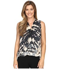 Hard Tail Double Layer Tee Skeleton Horizon 1 Women's Sleeveless Black