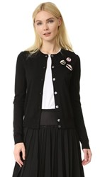 Marc Jacobs Long Sleeve Candy Cardigan Black