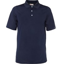 Kjus Golf Seapoint Mesh Panelled Jersey Polo Shirt Blue