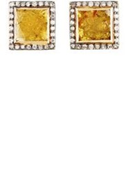 Nak Armstrong Women's Diamond Square Stud Earrings Colorless