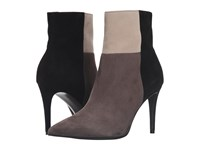 Kennel And Schmenger Patchwork Ankle Bootie Smoke Creme Black