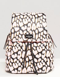 Paul's Boutique Pauls Backpack In Neon Leopard Print Neon Leopard Multi