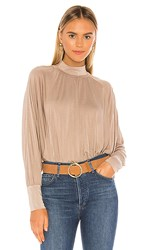 Lamade La Made Mimi Blouse In Taupe. Moon Rock