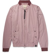 Nemen Cotton Blend Shell Bomber Jacket Pink