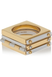Marc By Marc Jacobs Gold And Gunmetal Tone Hinged Ring