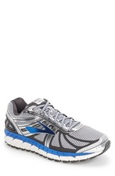 Brooks Men's 'Beast 16' Running Shoe Silver Electric Blue Ebony