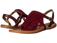 Vans Kihana Fringe Suede Windsor Wine Women's Sandals Red