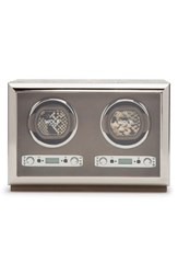 Wolf Double Watch Winder And Case Beige Tan