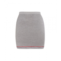 Thom Browne Knitted Wool Miniskirt