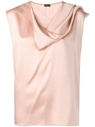 Joseph Draped Neck Top Neutrals