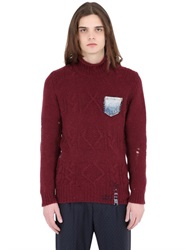 Bob Strollers Bob Destroyed Wool Blend Cable Knit Sweater