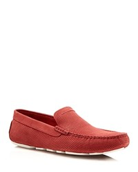 Ugg Henrik Perforated Driving Loafers Red