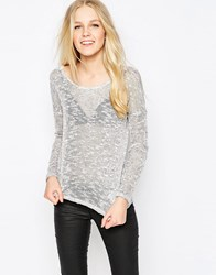 Vila Liza Salt And Pepper Knitted Jumper Liza Salt And Pep Grey