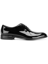 Versace Patent Lace Up Shoes Leather Patent Leather Black