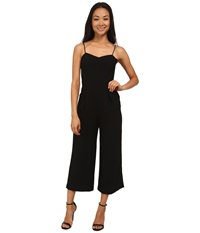 Sam Edelman Solid Sweetheart Wide Leg Jumpsuit Black Women's Jumpsuit And Rompers One Piece