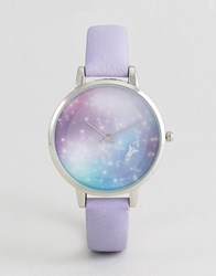 Asos To The Stars Moving Dial Watch Grey