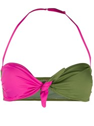 Mc2 Saint Barth Andy Two Tone Bikini Top Green