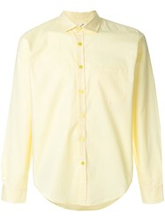 Martine Rose Classic Shirt Cotton Yellow Orange