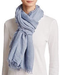 Fraas Lightweight Solid Scarf Blue
