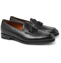 Ermenegildo Zegna Patrizio Tasselled Leather Loafers Black