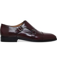 Paul Smith Luigi Leather Monk Shoes Wine