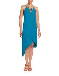 Guess Lace Up Asymmetrical Dress Lagoon
