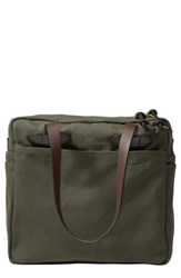 Filson Rugged Twill Zip Tote Bag Green Otter Green